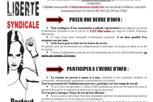 Dossier : Heure mensuelle d'information syndicale !