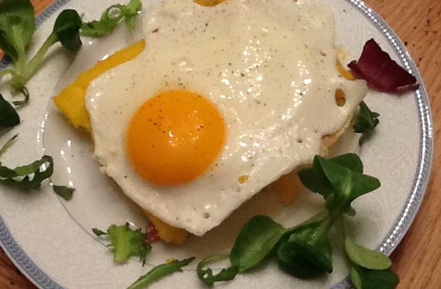 Recette : Croque-monsieur de polenta