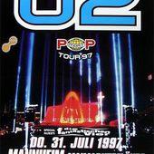U2 -Affiche concert -Mannheim ,Allemagne 31/07/1997 - U2 BLOG