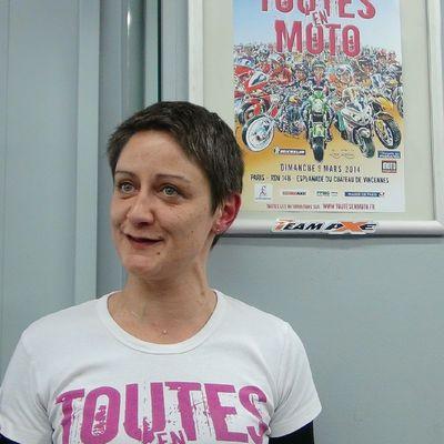 """Mini-interview de Céline Grolleau, organisatrice de """"Toutes en moto"""" Paris le 9 mars 2014"""