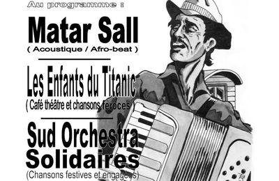 Concert soutien aux sans Papiers, 26/11, Salle Battant