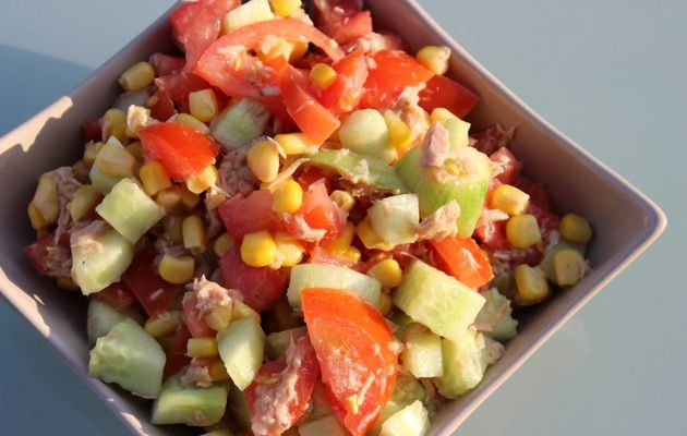 SALADE DE THON COLOREE