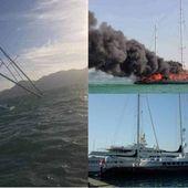 Le Phocéa a sombré. L'ancien yacht de Bernard Tapie, victime d'un incendie en Malaisie le jeudi 18 février 2021 a coulé le vendredi 19/02/21