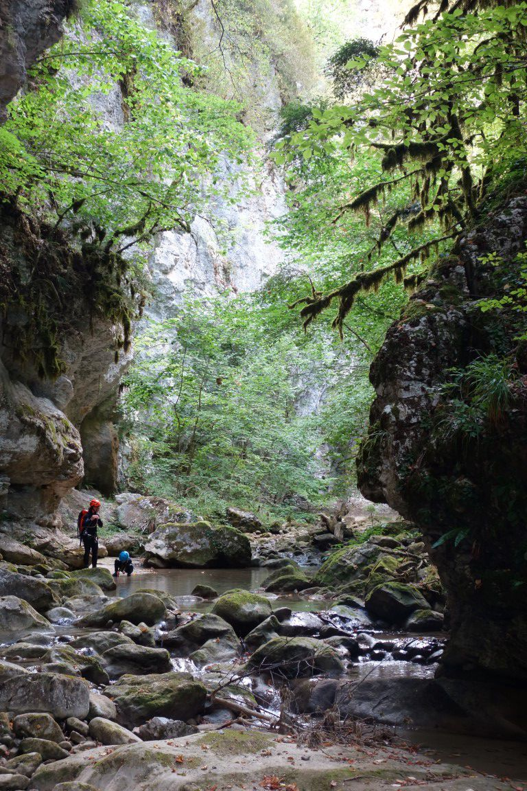 """un canyon typé montagne, dans le passage dit de la """"ruelle"""""""