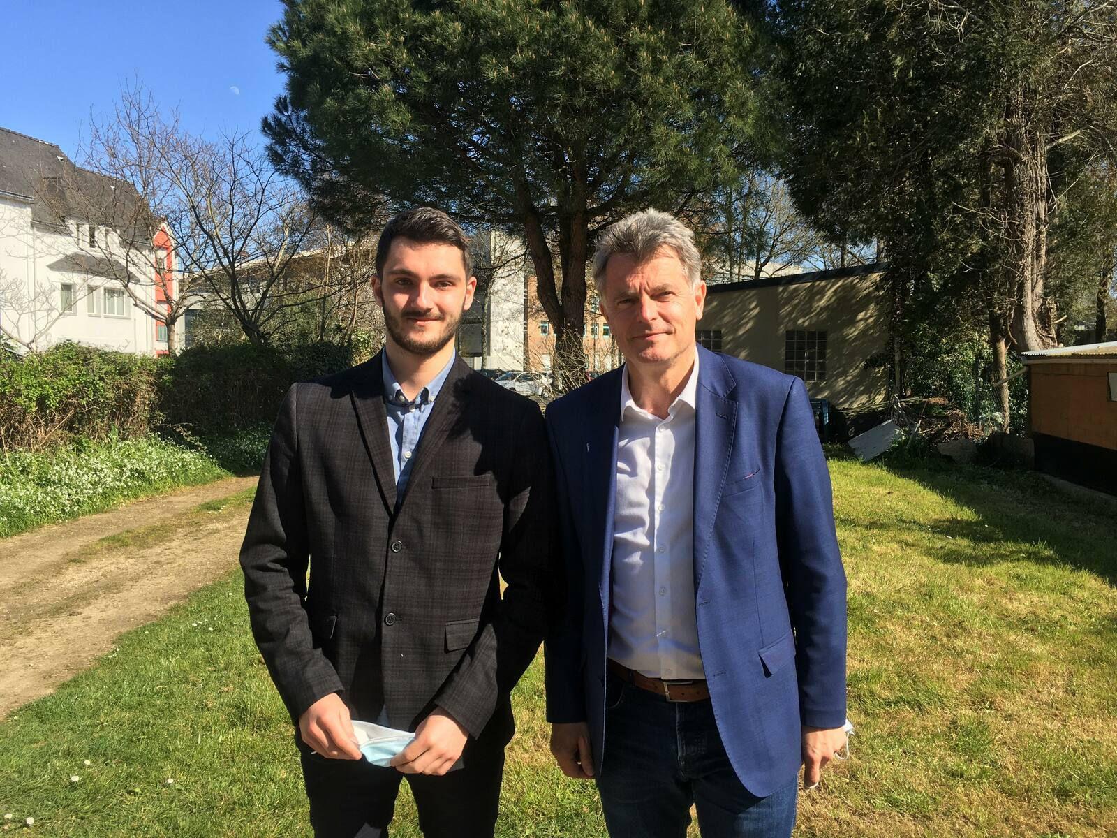 Enzo de Gregorio et Fabien Roussel