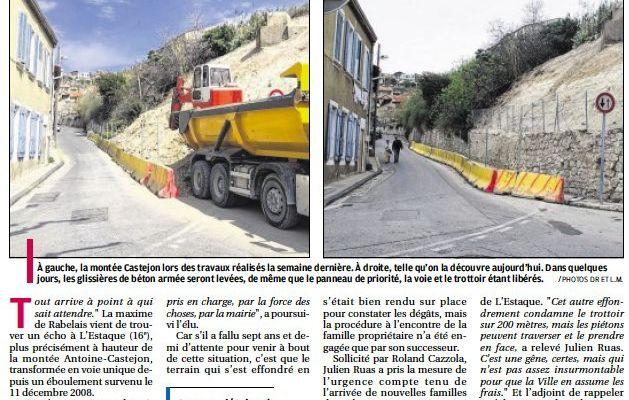 Travaux Castejon - Le CIQ partiellement satisfait