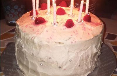 Layer-cake chocolat, vanille & framboises