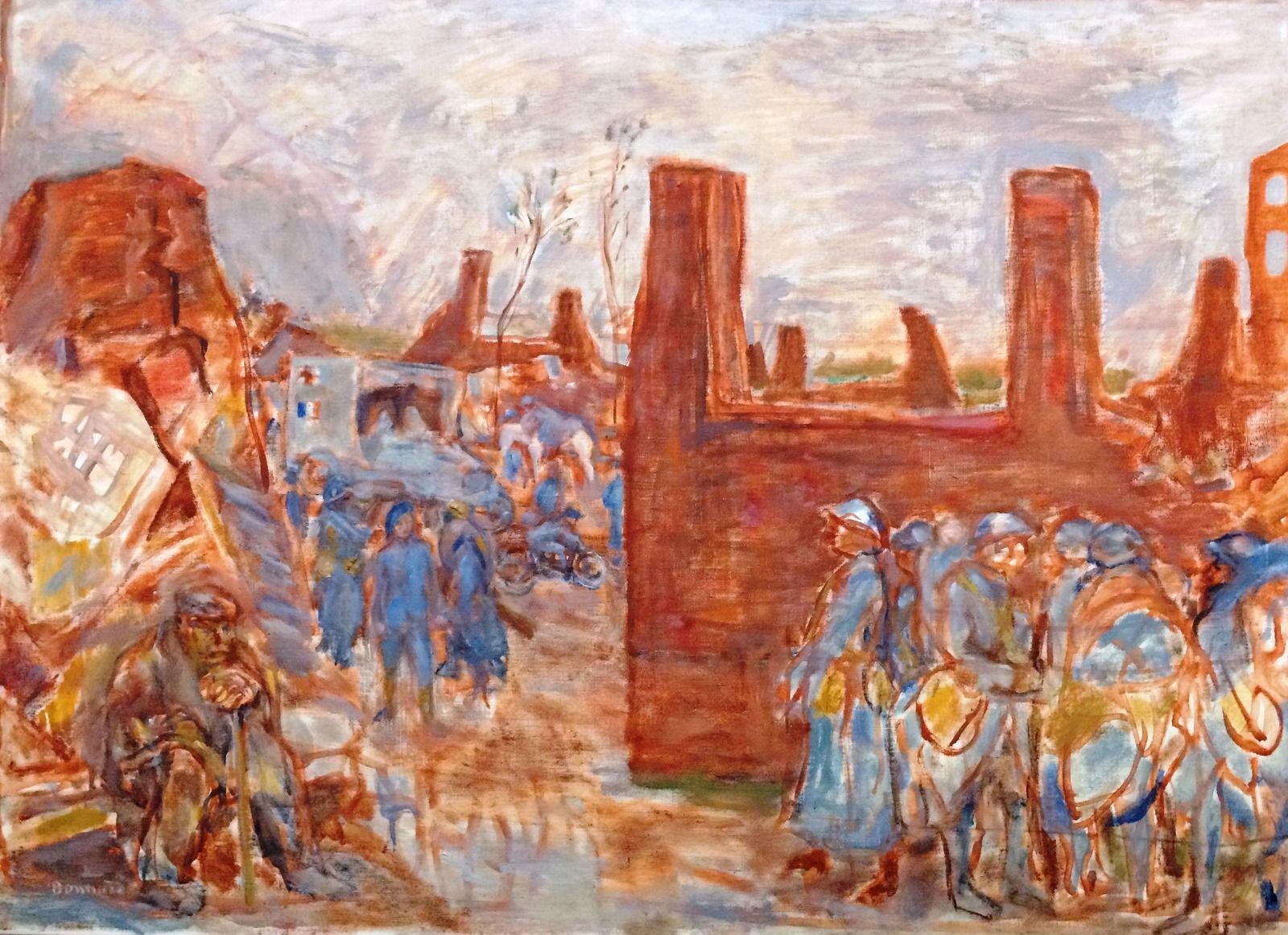 """""""retour des tranchées"""" par Pierre Bonnard (découverte à Vienne)"""