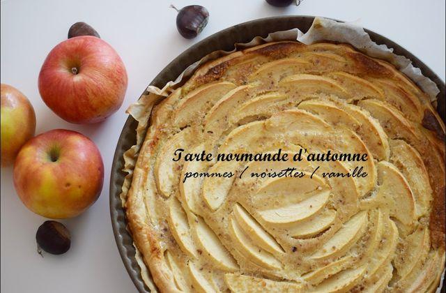 La recette de la tarte normande pommes/noisettes/vanille