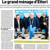 Le grand ménage d'Ettori - L'Equipe - TOURS FOOTBALL CLUB