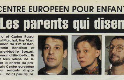Centre européen pour enfants disparus, les parents qui disent non...