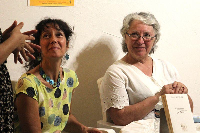 Denise Déjean et Myriam Saligari à la librairie Elan Sud