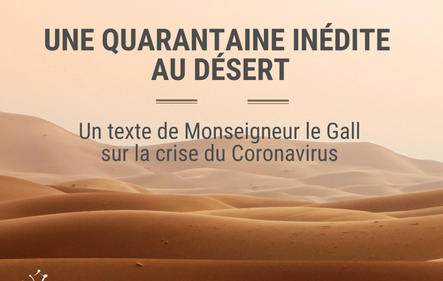 Un texte de Monseigneur Le Gall sur la crise du Coronavirus