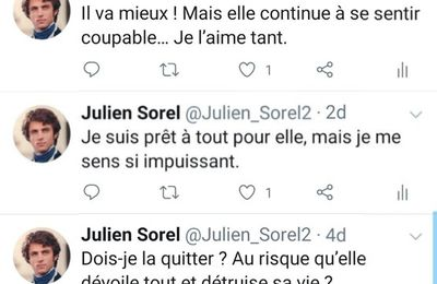 Tweets de Julien Sorel retrouvés sur son smarphone