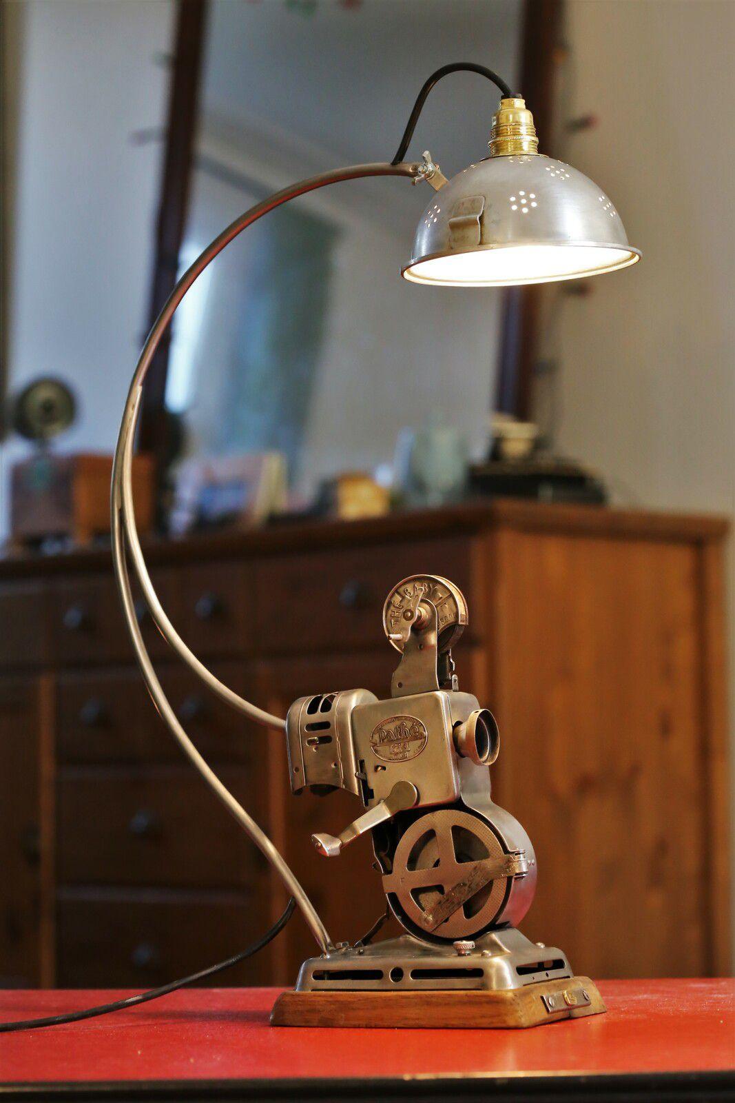 Création d'une lampe unique avec un projecteur de film vintage Pathé Kid