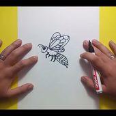 Como dibujar una abeja paso a paso 2   How to draw a bee 2