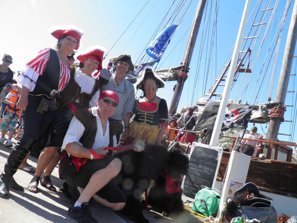 toutes nos interventions avec nos terr-neuves en tant que pirates,sur Marseille et sur La Seyne-sur-Mer