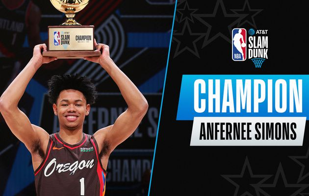 All-Star Game : Anfernee Simons remporte le concours de Dunks