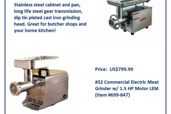 Commercial Meat Grinder - Reliable Food Prep Equipment