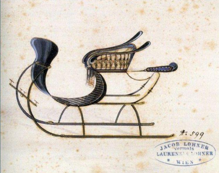 Traineaux d'origine allemande fin XIX de la collection Lohner