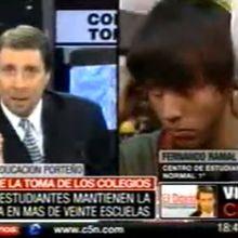 Argentina: Toma de colegios - Eduardo Feinmann Vs estudiantes y padres y su concepto de la democracia.