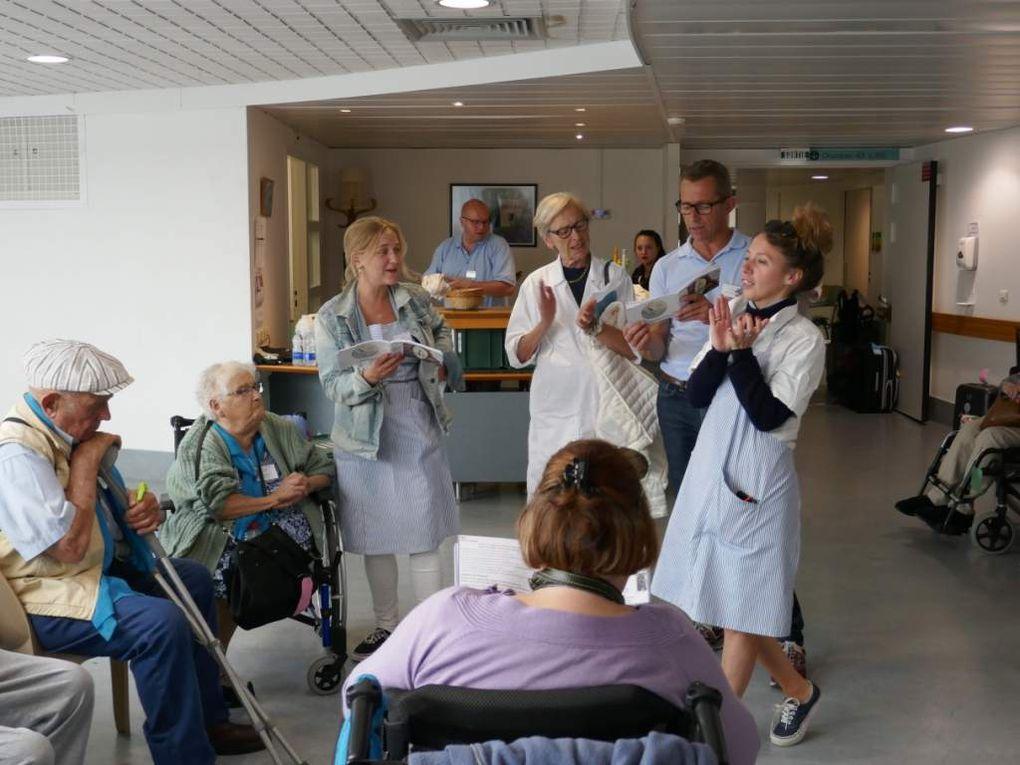 prière des Hospitaliers/passage aux piscines/Visite du père Matthieu aux malades/Ménage/Animations/Messe d'onction des malades/Procession aux bruloirs/Départ pour l'Yonne