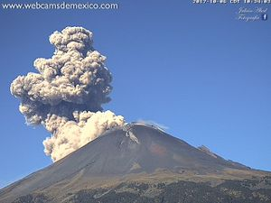 Popocatépetl - 06.10.2017 / 10h31-10h34 - Click to enlarge - webcamsdeMexico