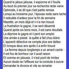 Jaloux et jalousie, pensée poétique