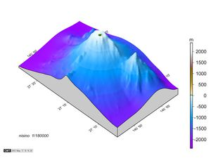 Bathymetry of the submarine volcano and emergent Nishino -shima land - doc . http://www1.kaiho.mlit.go.jp
