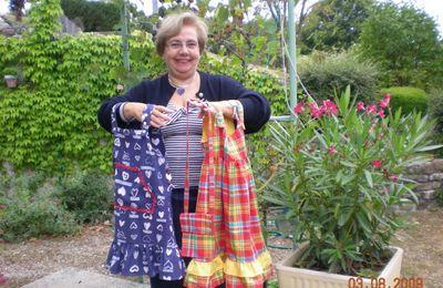 couture - une robe madras avec Marie Laure