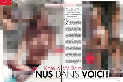 Voici publie des photos de Kate Middleton et du Prince William nues ... ou pas