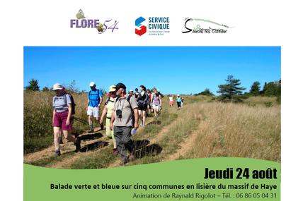 Laxou Balade verte et bleue en lisière du massif de Haye le 24 août 2017