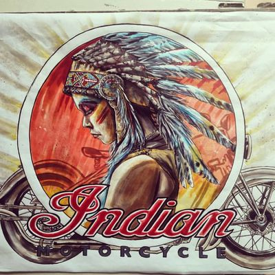 Pin UP Indian motorcycles