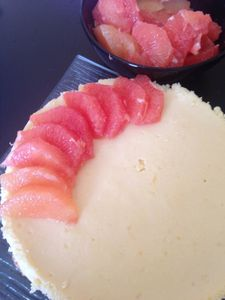 Cheesecake de brocciu au pomelo corse recette de Pierre Hermé