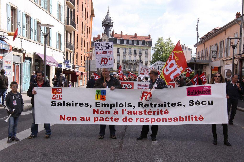 1er mai 2014 au Puy en Velay - 800 Manifestants