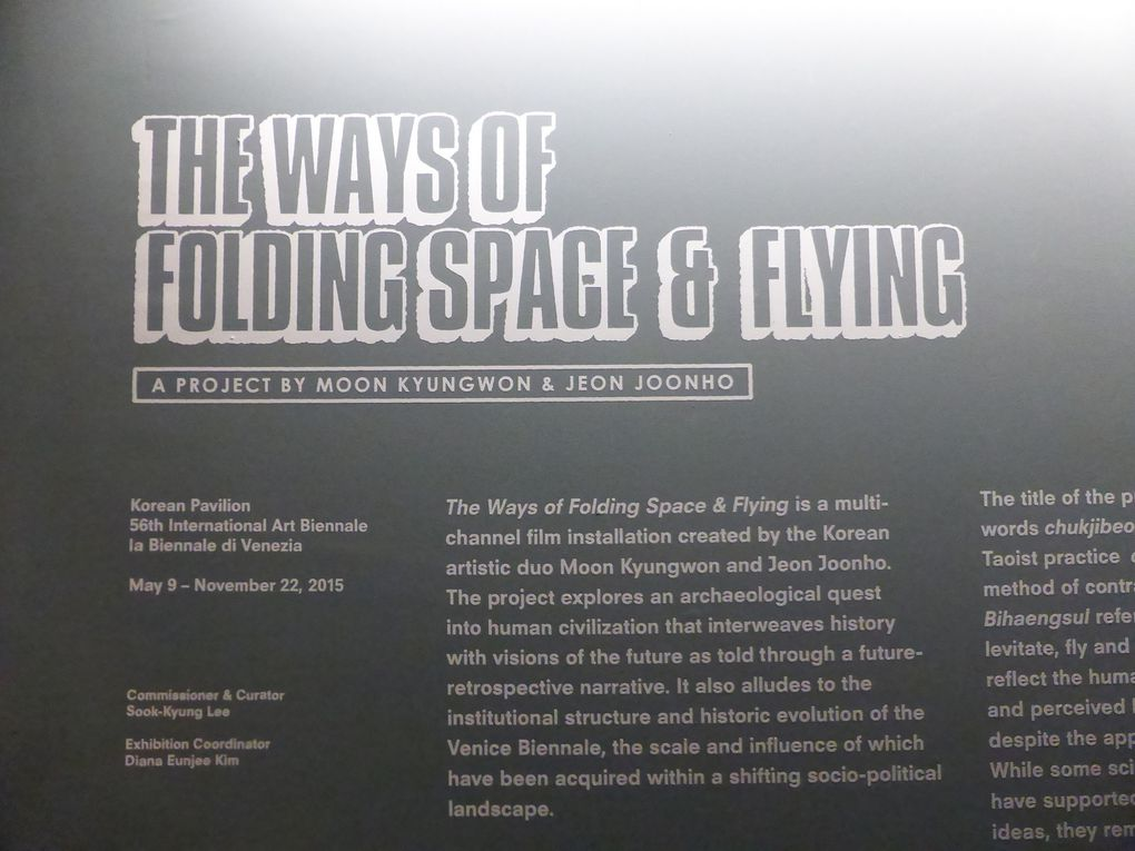 The Ways of Folding Space & Flying. Pavillon de la Corée, Giardini © Le Curieux des arts Gilles Kraemer. 56ème exposition Internationale d'Art - la Biennale di Venezia. 7 mai & 27 octobre 2015