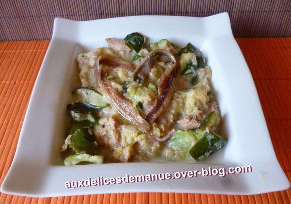 marmite de courgettes et thon au chèvre frais et anchois -LIGHT-