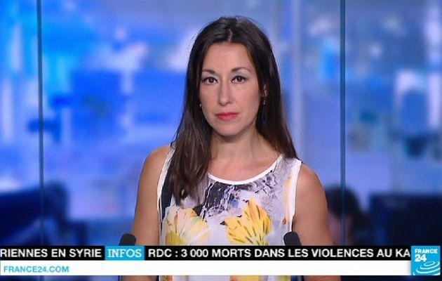📸12 SANDRINE GOMES @FRANCE24 @France24_fr cette nuit pour LE JOURNAL #vuesalatele