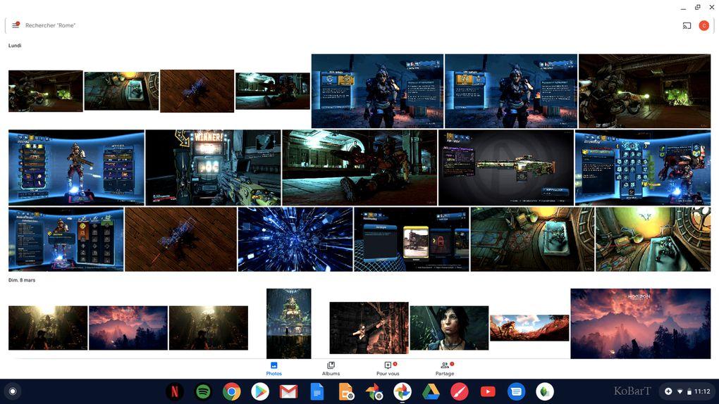Google Photo ; Interface