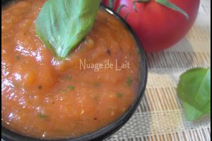 Coulis de Tomates Light au Basilic
