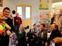Fastnachtstars zu Gast in der Bücherei: Sebastian Reich mit Amanda, Martin Rassau und Bernd Ottinger
