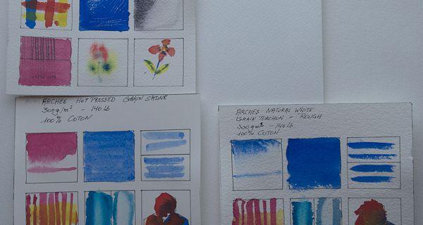 Test des papiers aquarelle d'Arches
