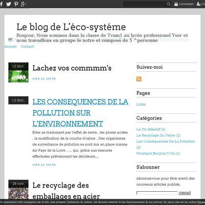 Le blog de L'éco-systéme