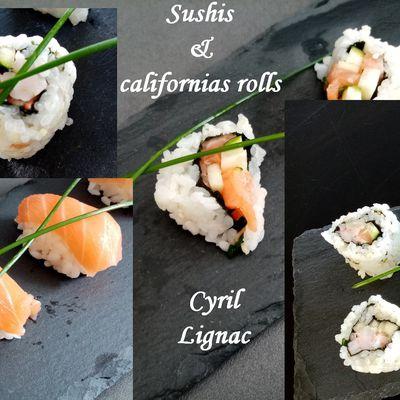 Sushis et california rolls de Cyril Lignac dans tous en cuisine avec  Hirose Abe