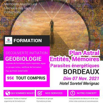 BORDEAUX- Formation : Astral, entités, parasites, mémoires, protections