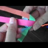 How to weave a palm leaf ball. Part 2 (Ball weave with paper tutorial)