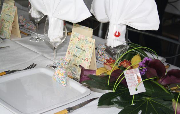 décoration de table pour fiançailles