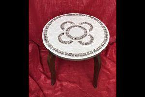 Table basse mosaïque picassiette