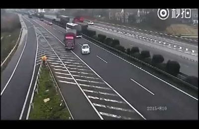 Demi-tour sur l'autoroute