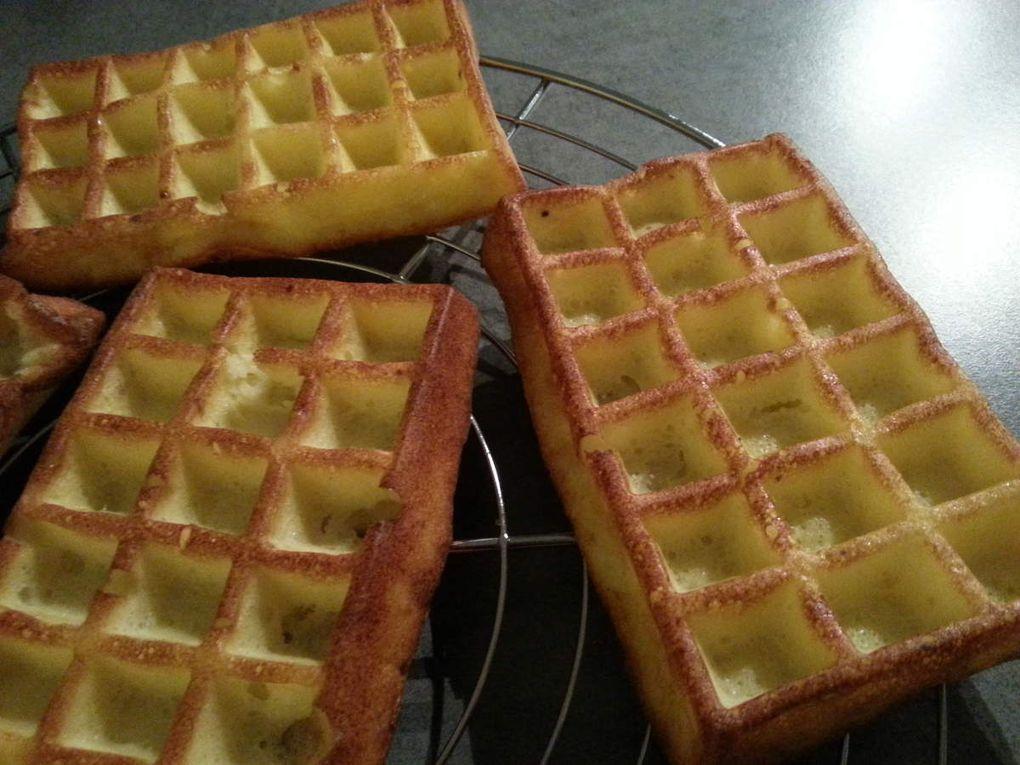 Gaufres de pommes de terre aux lardons et reblochon